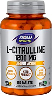 NOW Sports Nutrition, L-Citrulline, Extra Strength 1200 mg, Amino Acid, 120 Tablets