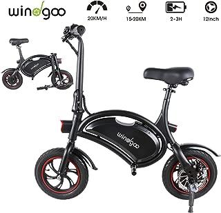 Windgoo Bicicleta Electrica 36V, Ebike Plegable Ruedas de 12