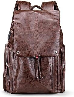 Color : Brown, Size : S RXF Mens Messenger Bag Casual Lady Shopping Bag Student Bag
