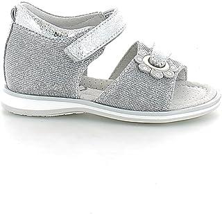 NeroGiardini - Sandalo in Tessuto Glitterato Argento con Strappi