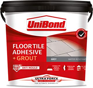 UniBond 2571589 Ultraforce Floor Adhesive and Grout, Grey