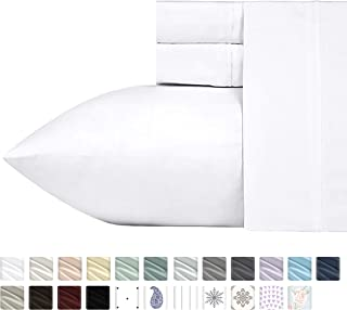 400-Thread-Count 100% Cotton Sheet Pure White...