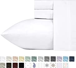queen white cotton sheets