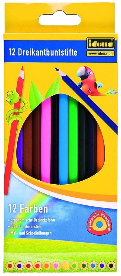 IDENA 621471?Standard Triangular Colouring Pencils?–?Pack of 12, FSC 100%