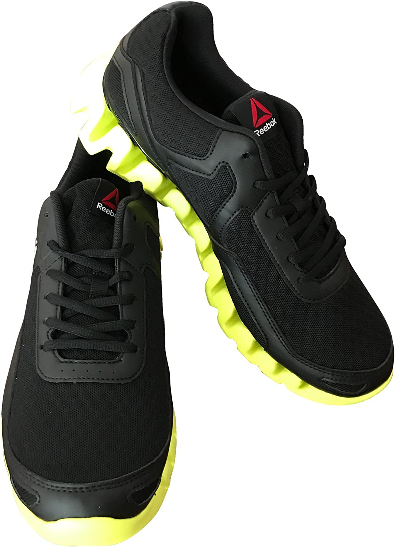 Reebok Men's Zig Evolution Running shoes, Black, Hero Yellow, Pewter