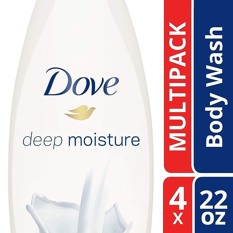 Dove  Deep Moisture Body Wash, 22 Fl Oz, Pack of 4