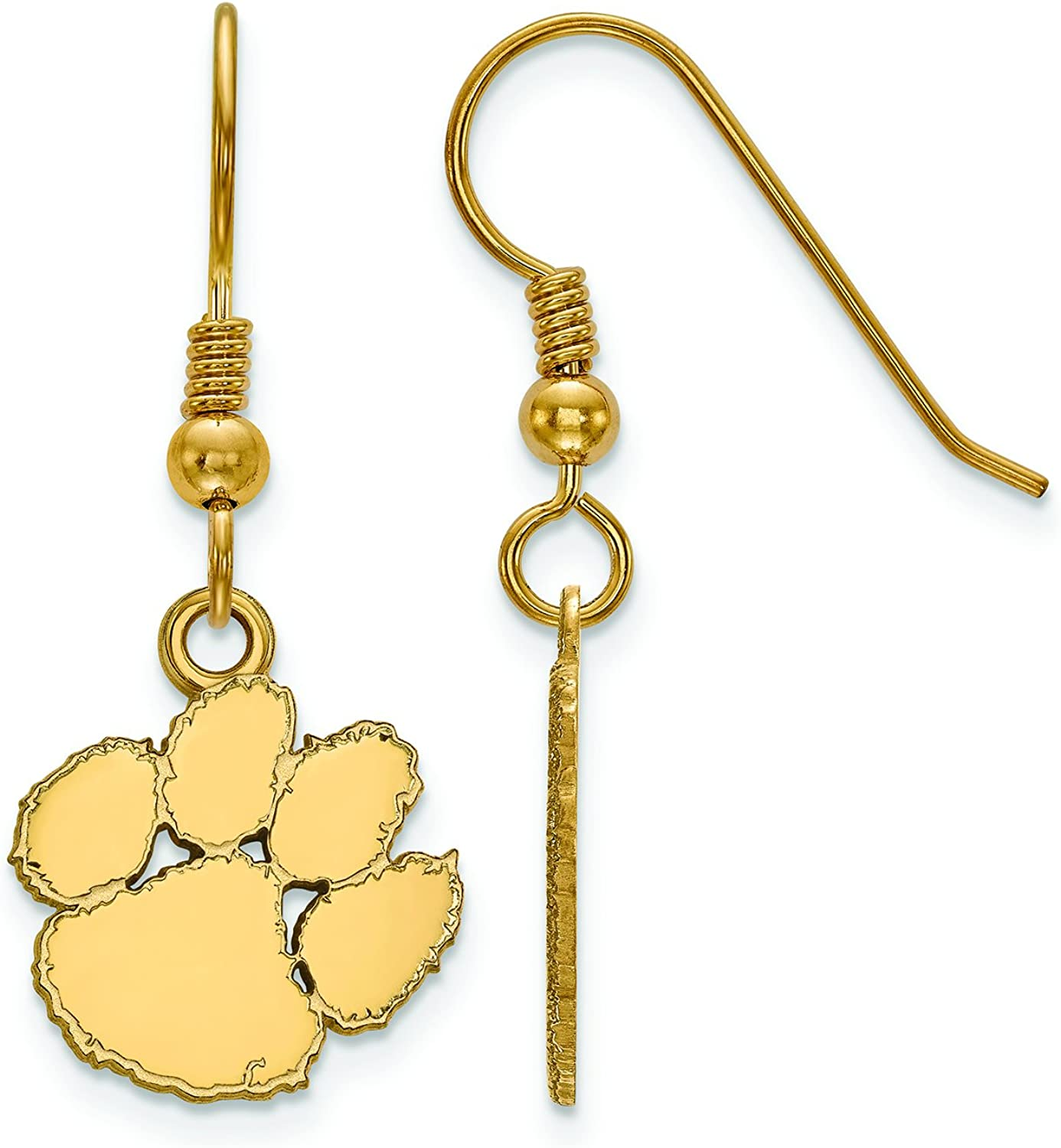 Clemson Small (1 2 Inch) Dangle Earrings Wire (gold Plated)