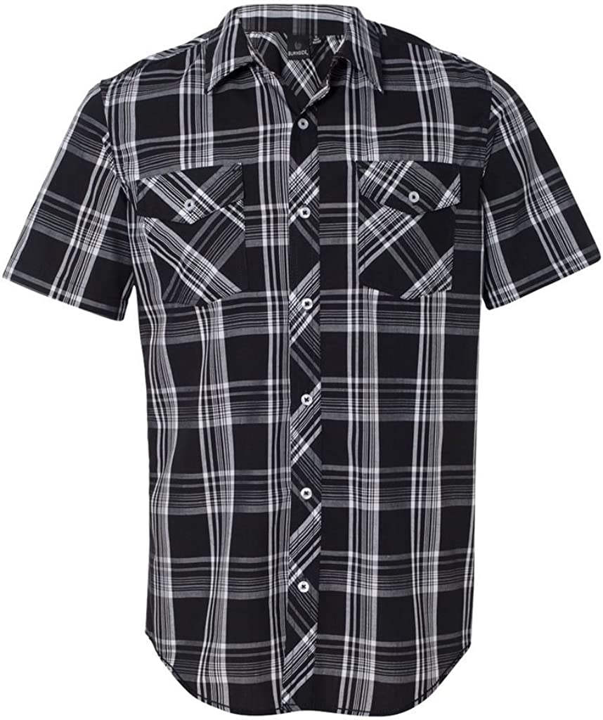 Burnside Mens Plaid Short Sleeve Ranking TOP3 Shirt-B9202 Al sold out.