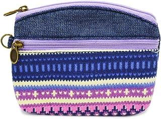 Pocket Handbag Classic Print Coin Purse Makeup Bag Zip Canvas Purse Wallet