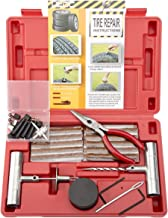 DEDC 65pcs Heavy Duty Flat Tire Repair Kit for ATV Tires Truck Tires RV Tires Jeep Tractor Trailer Tires Motorcycles Lawn Mowers Tires in Red Case