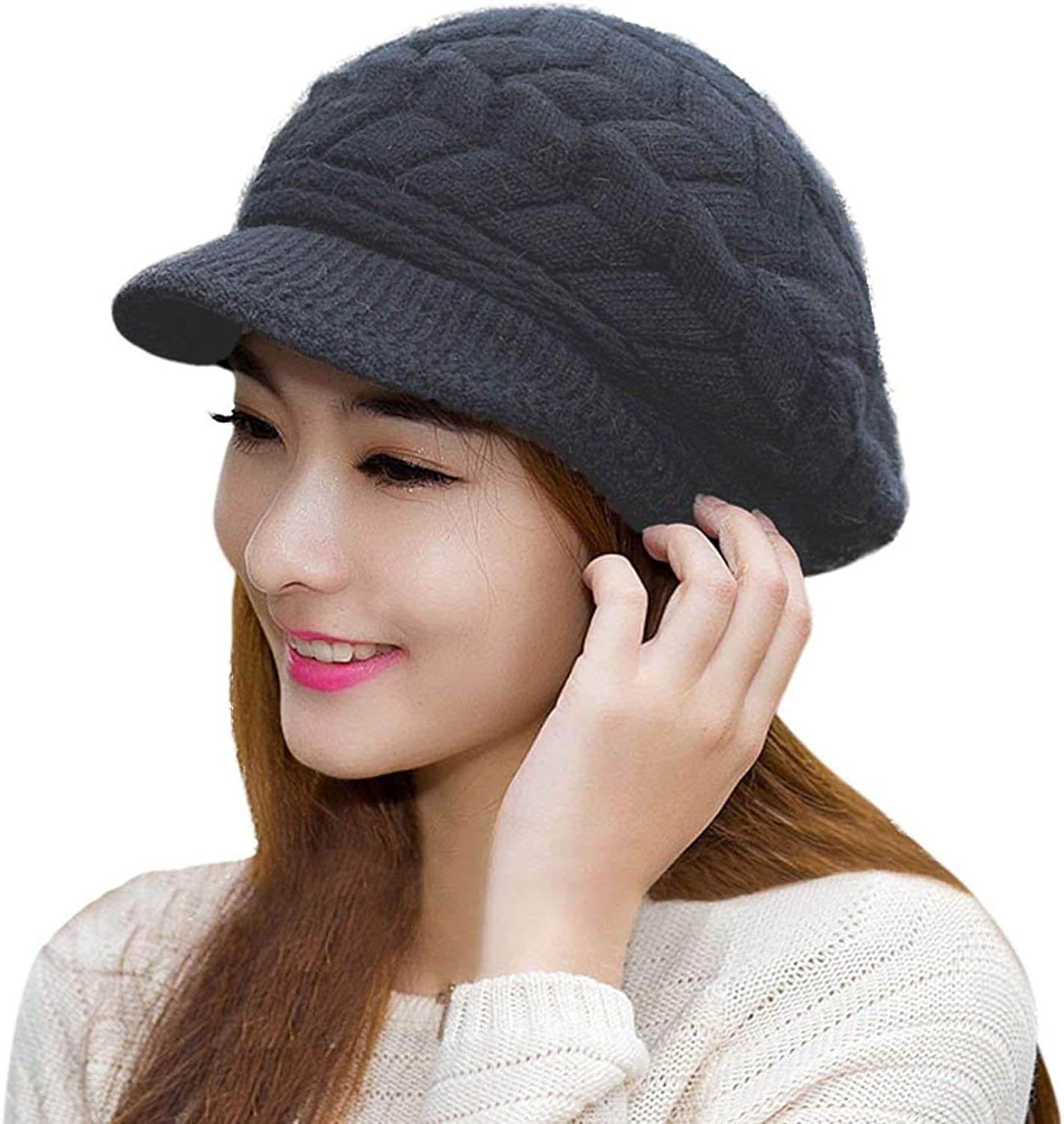 HINDAWI Womens Winter Hat Girls Warm Crochet Knit Direct stock discount Wool S Ranking TOP8 Outdoor