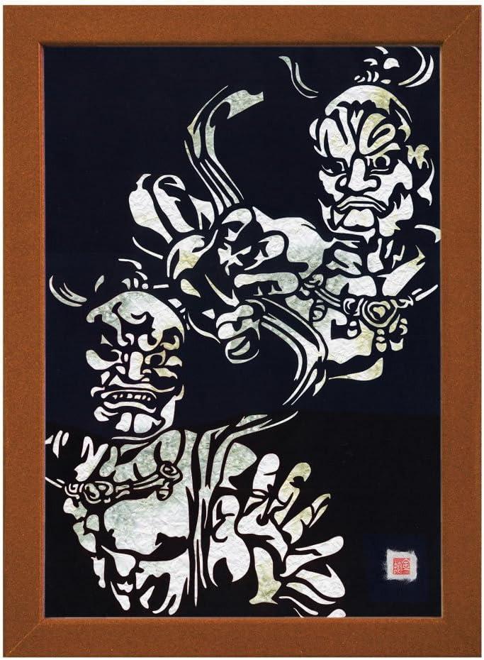 """Cutout picture Japanese art Kongorikishi"""" """"Todaiji collage 4 years warranty Free Shipping Cheap Bargain Gift KIRIE"""