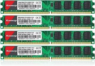 8GB Kit (4X2GB) DDR2 667 DIMM RAM, Kuesuny PC2-5300/PC2-5300U CL5 240-Pin Non-ECC Unbuffered Desktop Memory Modules