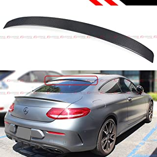 Cuztom Tuning Fits for 2017-2019 Mercedes Benz W205 2 Door Coupe C-Class Real Carbon Fiber VIP Style Rear Window Roof Spoiler