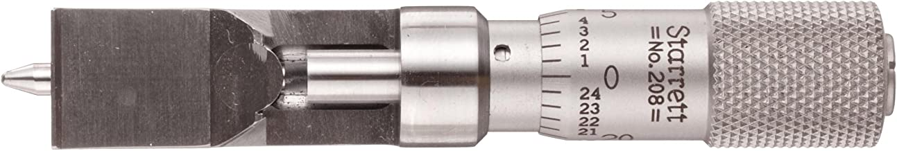 Starrett 208DZ Can Seam Micrometer, Plain Thimble, 0-0.375