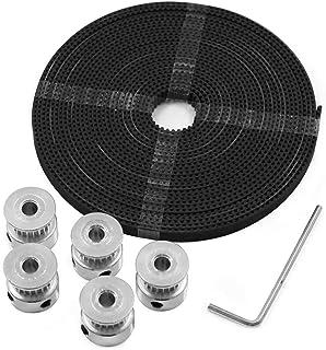 Decdeal New 3D Printer Tool Kit 20 Teeth Timing Aluminum Pulley Wheels 5mm Core Diameter 5 Meters Timing GT2 Belt Hexagon ...