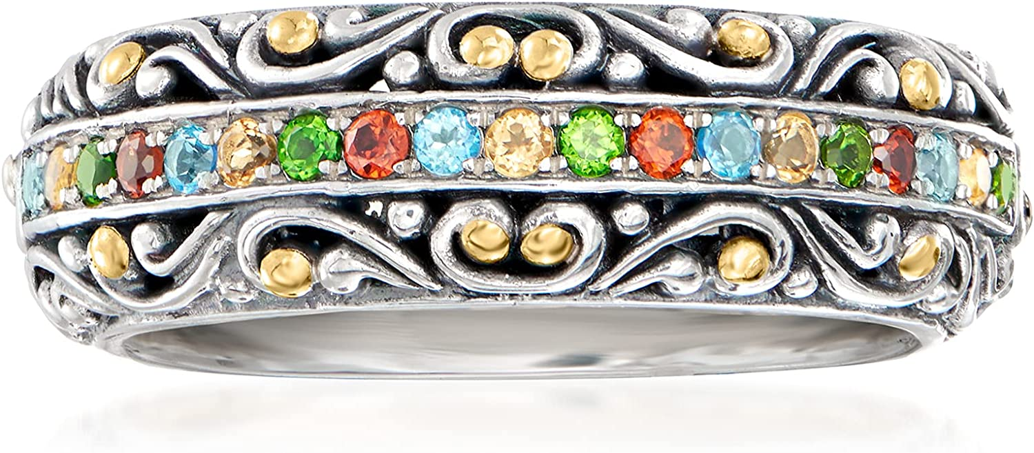 Ross-Simons 0.34 ct. New mail order t.w. Multi-Gemstone Ring Balinese in Sterli Ranking TOP19
