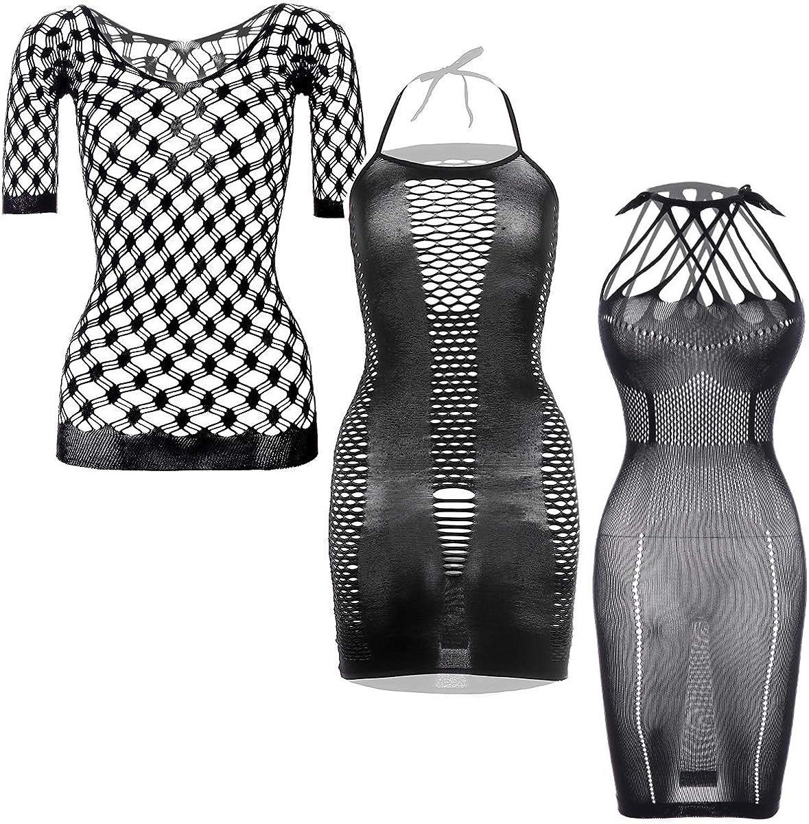 GVIANCXI 3 Pack Women Mini Dresses Sexy Out Super special price Under blast sales Bodysui Cut Seamless