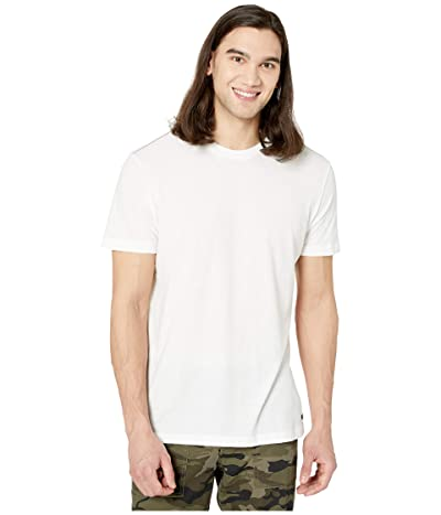 RVCA Solo Label Short Sleeve T-Shirt (White/Blue) Men