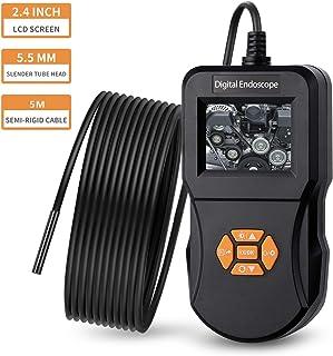 Digital Industrial Endoscopio 2.4 pulgadas 640p Pantalla LCD con 5,5 mm 6 luces LED