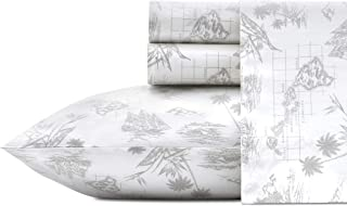 Tommy Bahama Vintage Map Sheet Set, Queen, Grey