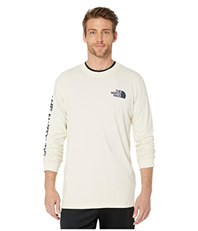 The North Face Long Sleeve TNFtm Sleeve Hit T-Shirt (Vintage White/Blue Wing Teal) Men