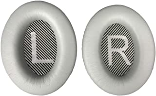 Replacement Ear-Pads Cushions for Bose QuietComfort-35 (QC-35) and QuietComfort-35 II (QC-35 II) Over-Ear Headphones (Silver)