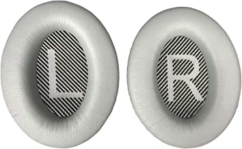 Replacement Ear Pads Earpads for Bose QuietComfort 2 15 25 35 Ear Cushion for QC2 QC15 QC25 QC35 AE2 AE2i AE2w SoundTrue SoundLink (QC 35 Only (i and ii) Silver)