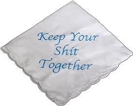 Keep Your Shit Together Wedding Handkerchief in Blue- Something Blue Bridal Keepsake