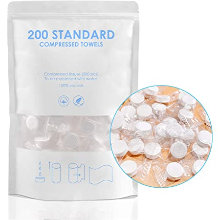 Magic Disposable Face Compressed Towels 200pcs Mini Compressed Towel Soft Compressed Hand Wipe Portable Compressed Coin Tissue for Travel//Home//Outdoor Activities