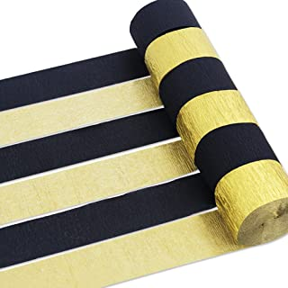 Coceca 12 Rolls Crepe Paper Streamers, 2 Colors, for Various Birthday Party Wedding Festival Party Decorations