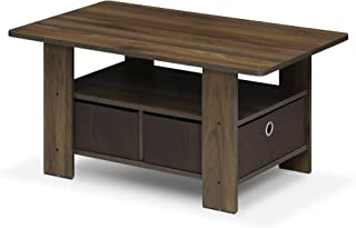 FURINNO Andrey Coffee Table with Bin Drawer, Columbia...