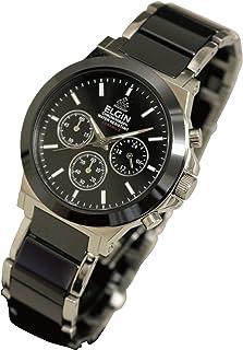 [エルジン]ELGIN 腕時計 セラミックス クロノグラフ FK1417C-B メンズ