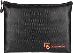 💕💕 Fireproof Document Bag Fire Resistant & Water Resistant Money Bag Safe Storage