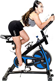 Fit Right Indoor Stationary Bike with 22 LB Flywheel, Exercise Bike Stationary for Home Gym with Digital Monitor, 285 LB Max