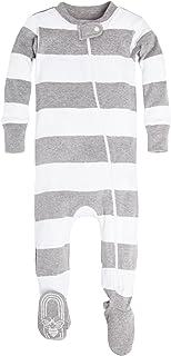 Burt's Bees Baby - Baby Boys Unisex Pajamas, Zip-Front...