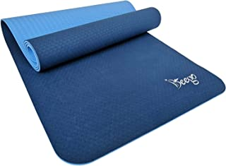 Beego Yoga Mat-Eco Friendly TPE Non Slip Yoga Mat Workout Mat for All Type of Yoga,Pilates and Floor Exercises Classic 1/4 inch Thick Fitness Exercise Mat with Carrying Strap