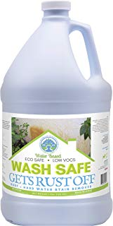 Wash Safe Industries WS-RO-1G Clear Rust Off Rust and Hard Water Stain Remover, 1 gal Bottle with Spray Attachment