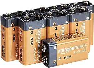 AmazonBasics 9 Volt Everyday Alkaline Batteries – Pack of 8