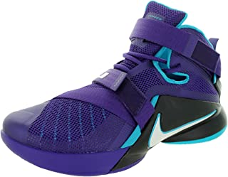 Nike Mens Lebron Soldier IX Court Purple/White/Blk/Bl Lgn Basketball Shoe 9 Men US