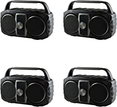 $88 » AudioPipe AP-PRT-B1 Portable Wireless Bluetooth Speaker Compatible with MP3, Phone, & Aux (4 Pack)