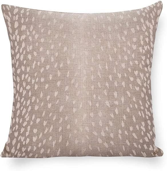 羚羊印花枕套动物印花强调靠垫灰色白色亚麻枕套小鹿抱枕中性装饰