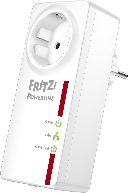 Avm Fritz Powerline 520e Einzeladapter 500 Mbit S Gigabit Lan