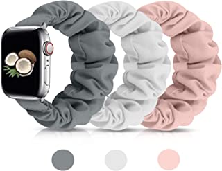 Scrunchies Watch Band for Women, Soft Replacement Elastic Wristband Compatible for iWatch Series 5 4 3 2 1 Compatible with...