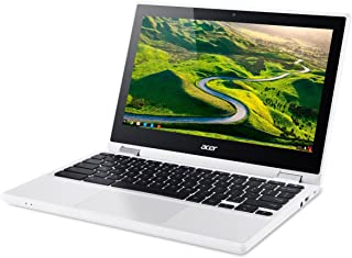 Acer R11 Convertible 2-in-1 Chromebook, 11.6in HD Touchscreen, Intel Quad-Core N3150 1.6Ghz, 2GB Memory, 32GB SSD, Bluetoo...