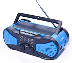 Hurricane Radio Weather Radio,Waterproof, Hand Crank, Solar/Battery Powered, 4000mAh..