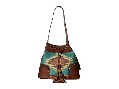 M&F Western Zapotec Bucket Bag (Brown) Bags