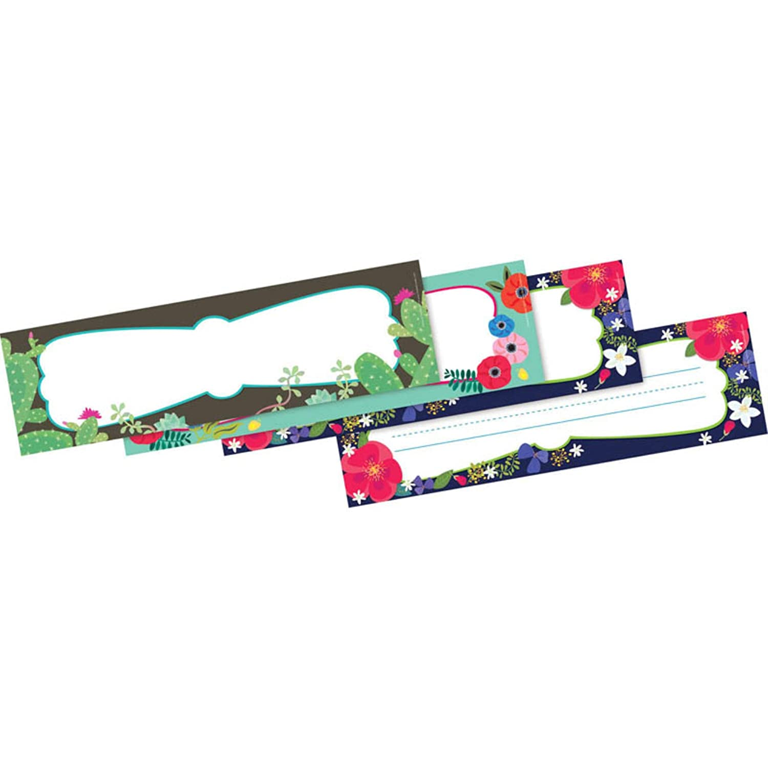 Petals Prickles Double-Sided Name Plates 12
