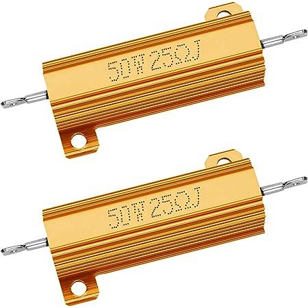 NTE Electronics 50WM125 Resistor 50 Watt Aluminum Housed Power Wirewound 250 Ohm for sale online