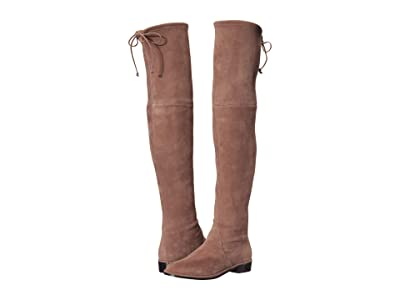Stuart Weitzman Lowland Over the Knee Boot (Taupe Suede Stretch) Women